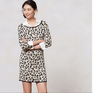 Anthropologie Leopardo Sweater Dress by Velvet